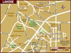 Map of Lahore