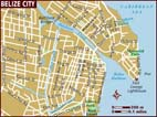 Map of Belize City