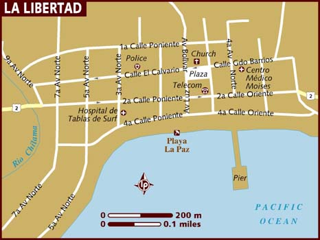 Map of La Libertad