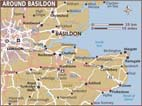 Map of Basildon