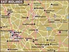 Map of East Midlands