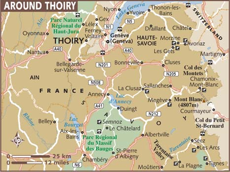 Map of thoiry