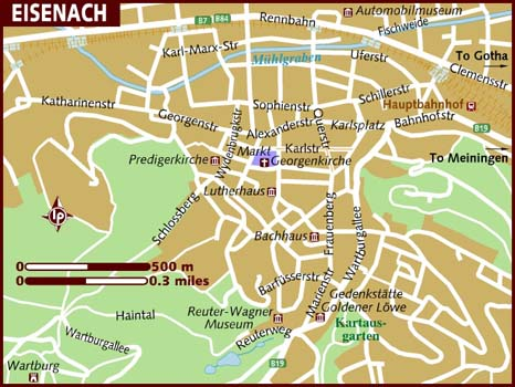 Map of Eisenach