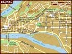 Map of Kaunas