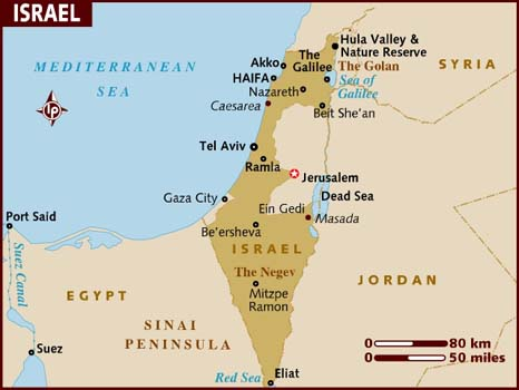 Israel On A Map Map of Israel