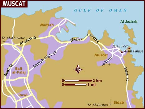 Map Of Muscat Map of Muscat