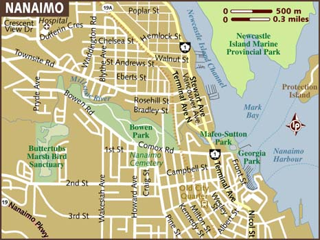 Map Of Nanaimo Map of Nanaimo