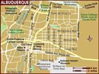 Map of Albuquerque