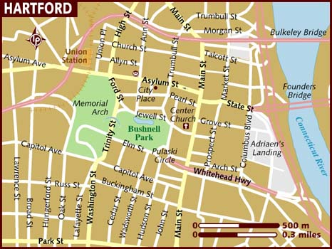 Map Of Hartford - Hartford usa map