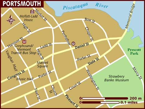 Map of Portsmouth