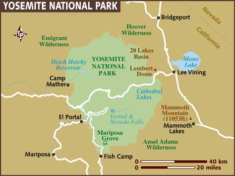 Map of Yosemite National Park. View the destination guide & interactive map