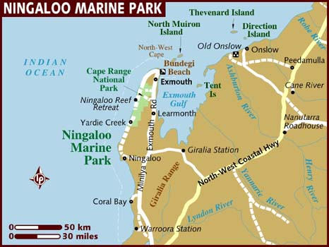 Map of Ningaloo Marine Park