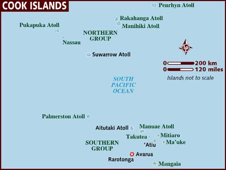 Map Of Cook Islands - Aland islands political map