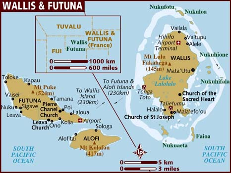 Map of Wallis & Futuna