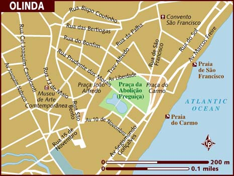 Map of Olinda