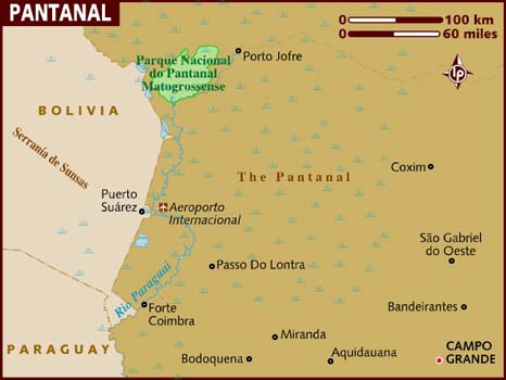 Map of The Pantanal