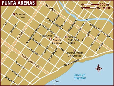 Map of Punta Arenas