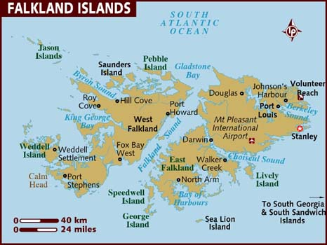 Map Of Falkland Islands - Islands map