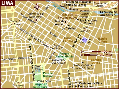 Map of Lima