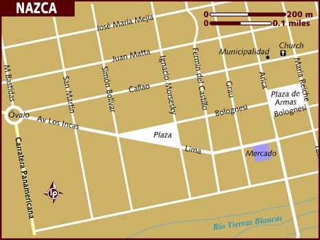 Map of Nazca