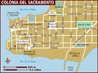 Map of Colonia del Sacramento