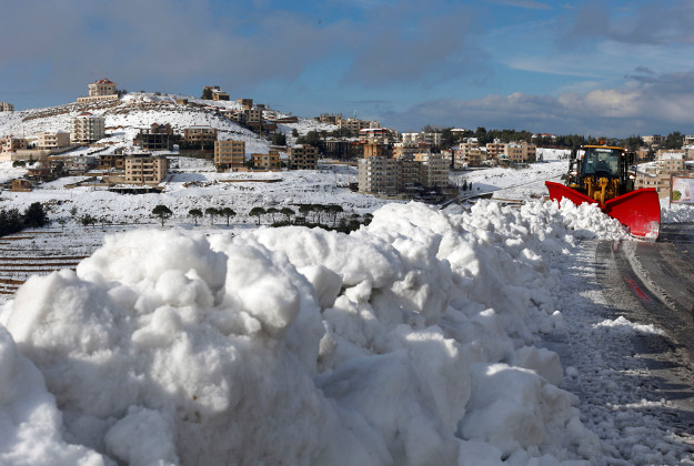The severe and unusual weather has worsened conditions for migrants in Lebanon