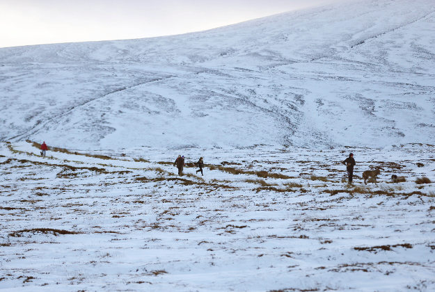 People enjoy the snow as temperatures drop in the Killakee Mountain area of Dublin.