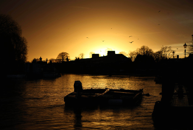 The sunset in Twickenham, west London.