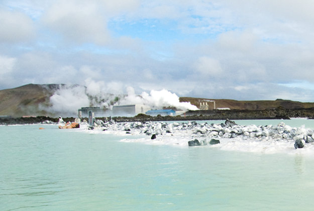 A geo-thermal power station by Iceland's famous Blue Lagoon.