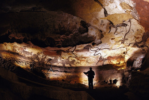 Paintings in the Lascaux cave, France.
