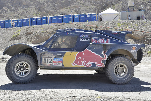 Competitor at the Dakar Rally, 2014.