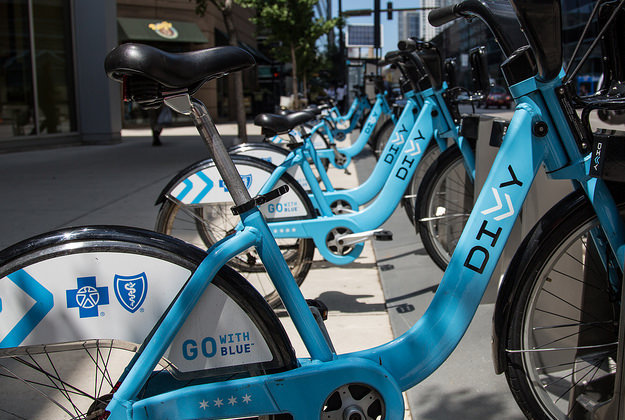 Divvy bikes are increasingly popular in Chicago.