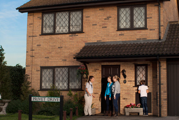 Number Four Privet Drive at the Warner Bros Studios in Watford, where a series of new features will celebrate the anniversary of Harry Potter And The Philosopher's Stone's release in 2001.Image by Warner Bros/PA Wire.