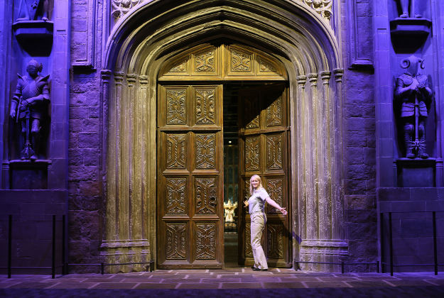 Entrance to Hogwarts at the Warner Bros Studios in Watford, where a series of new features will celebrate the anniversary of Harry Potter And The Philosopher's Stone's release in 2001. Image by: Warner Bros/PA Wire.