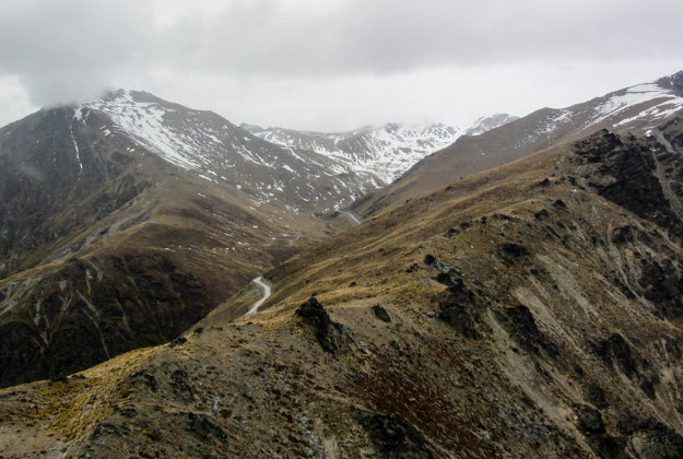 New Zealand's rugged landscapes.