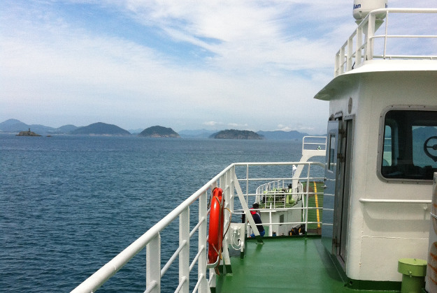 A ferry from From Tongyeong to Yeonhwado, South Korea.