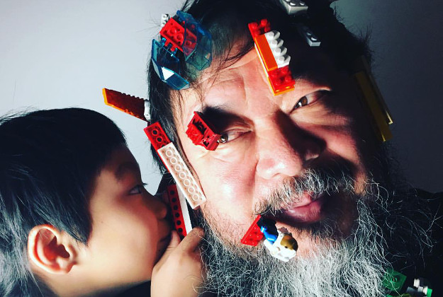 Aiweiwei posted a photo of himself with lego in his beard as a response to the announcement