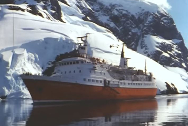Recently digitized film depicts life aboard Lindblad Explorer on early expeditions and was shot on 16mm in the late 60s.