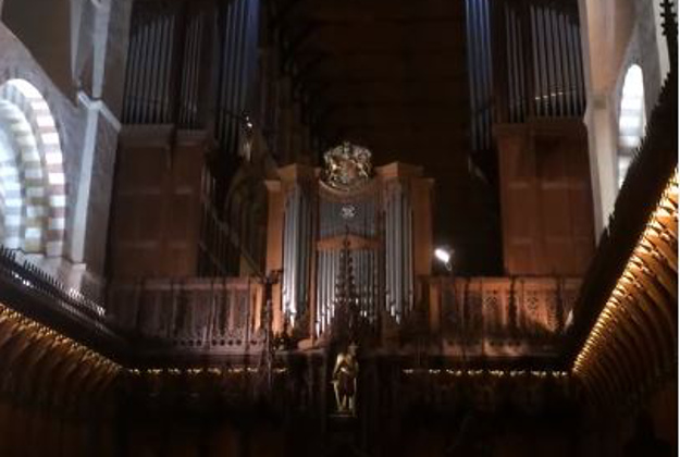 St Albans Cathedral Tribute to David Bowie.