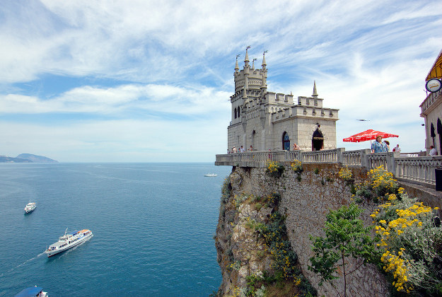 The Swallow's Nest is a decorative castle on the Black Sea in Crimea.