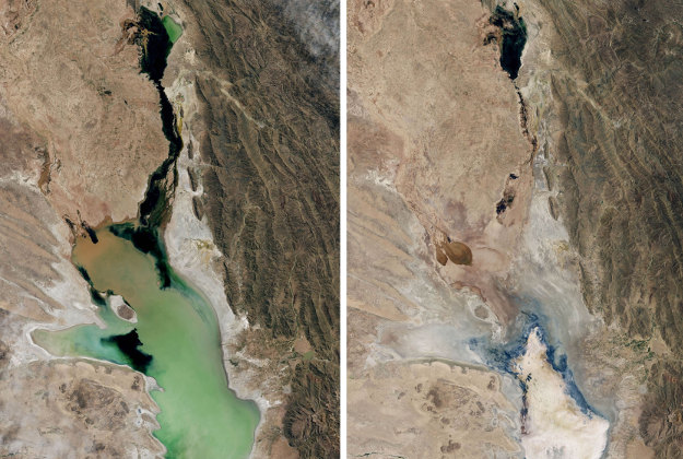 Satellite images show the extent of global warming