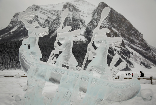 Icy art in Canada