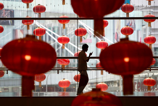 Lanterns in Malaysia ahead of the Lunar New Year