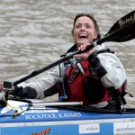 British adventurer Sarah Outen, who is expecting a tearful reunion with the ocean rowing boat she abandoned in a hurricane only to be discovered months later off Ireland.