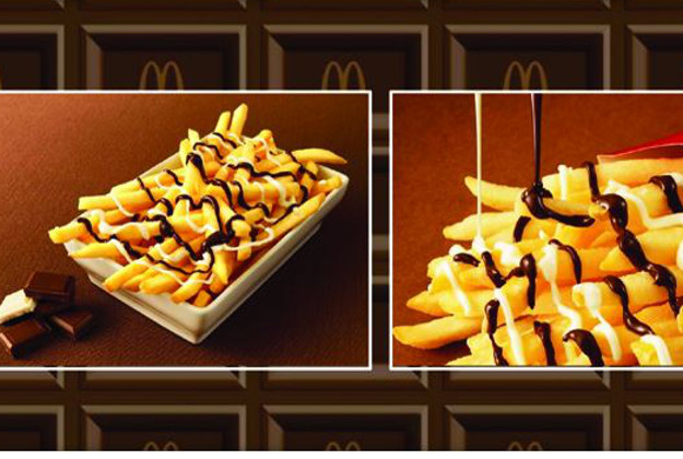 McDonald's McChoco Potato sweetnsalty and ready for the Japanese market