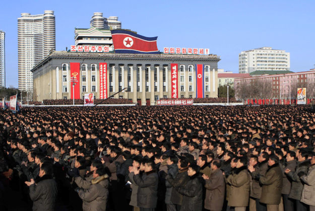 North Korea's celebrates the new year with a mass rally