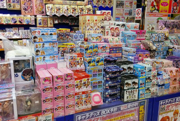 A store in Tokyo where you can buy Otaku products.