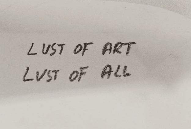 One of the people behind the Om3am Club, Hans Ulrich Obrist, collects post its on Instagram