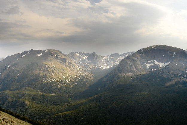 Recent photo from the Forest Canyon overlook in Rocky Mountain National Park.
