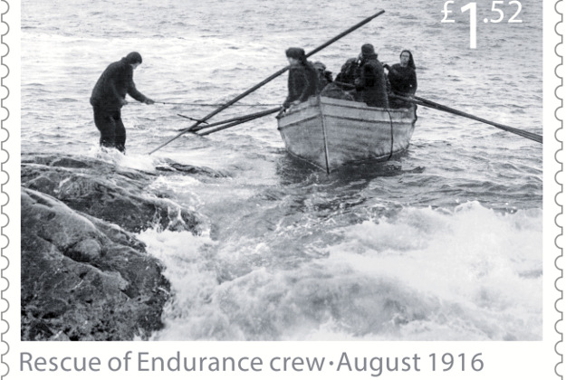 The rescue of the Endurance crew on Elephant Island, August 1916, part of their set of Special Stamps to mark the story of survival of Ernest Shackleton.